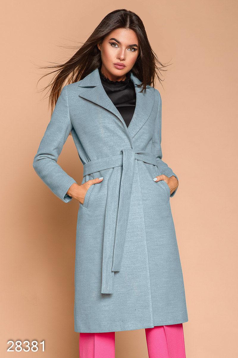 Кашемировое пальто-халат