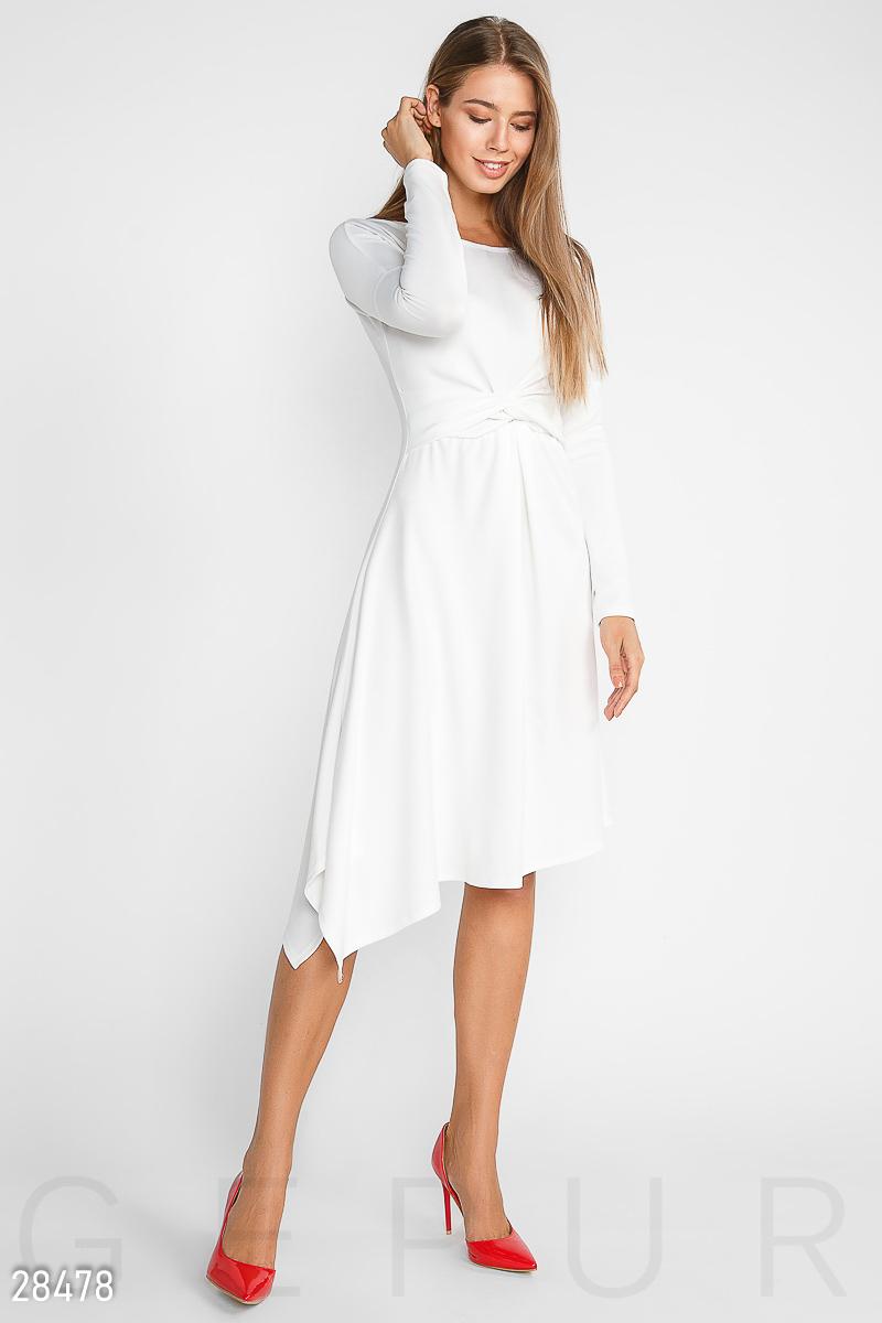 NEW Асимметричное трикотажное платье