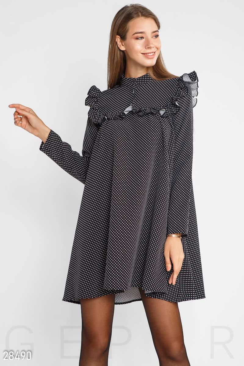 NEW Расклешенное платье в горошек