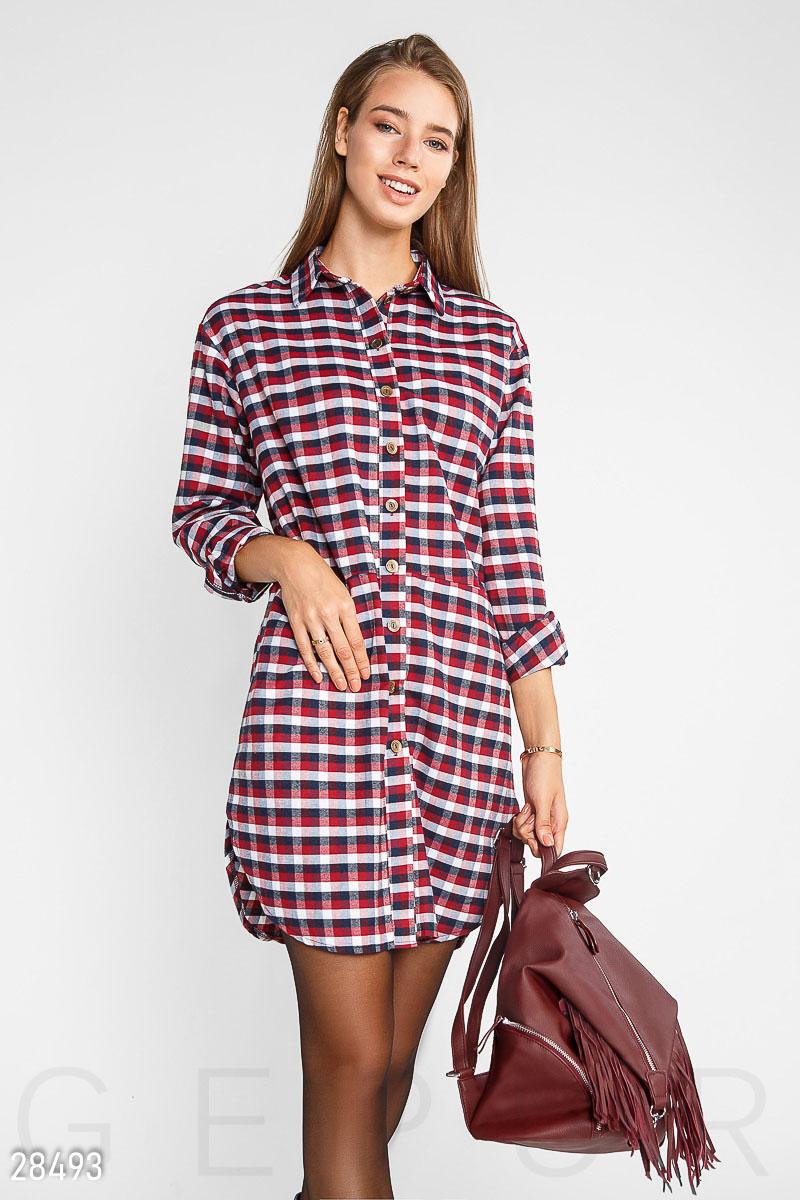 NEW Теплое платье-рубашка