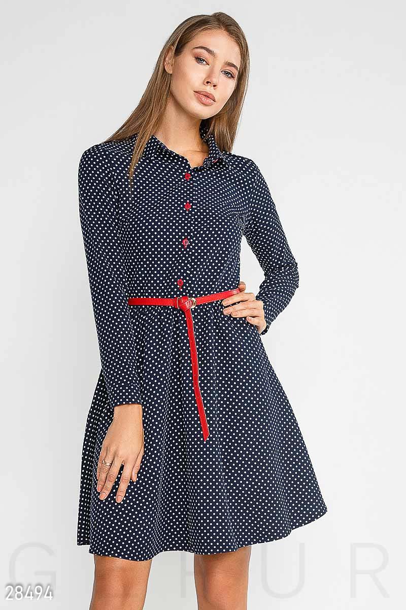 NEW Платье в горошек