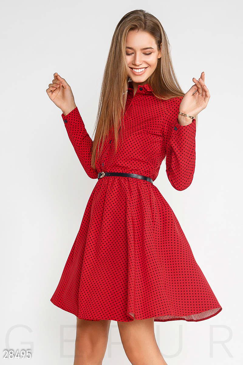 NEW Яркое расклешенное платье