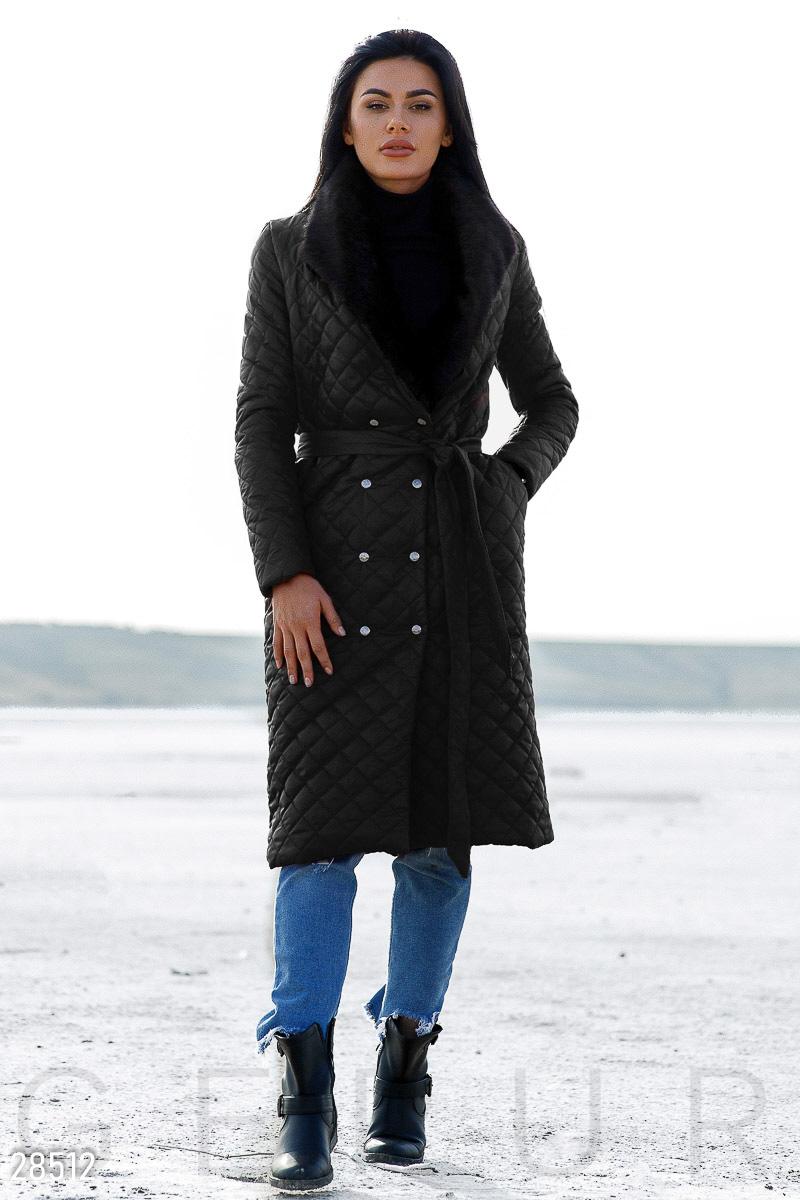 Двубортное осеннее пальто
