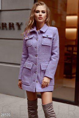 Textured coat for women photo 1