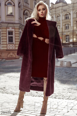 Long eco-fur coat  photo 1