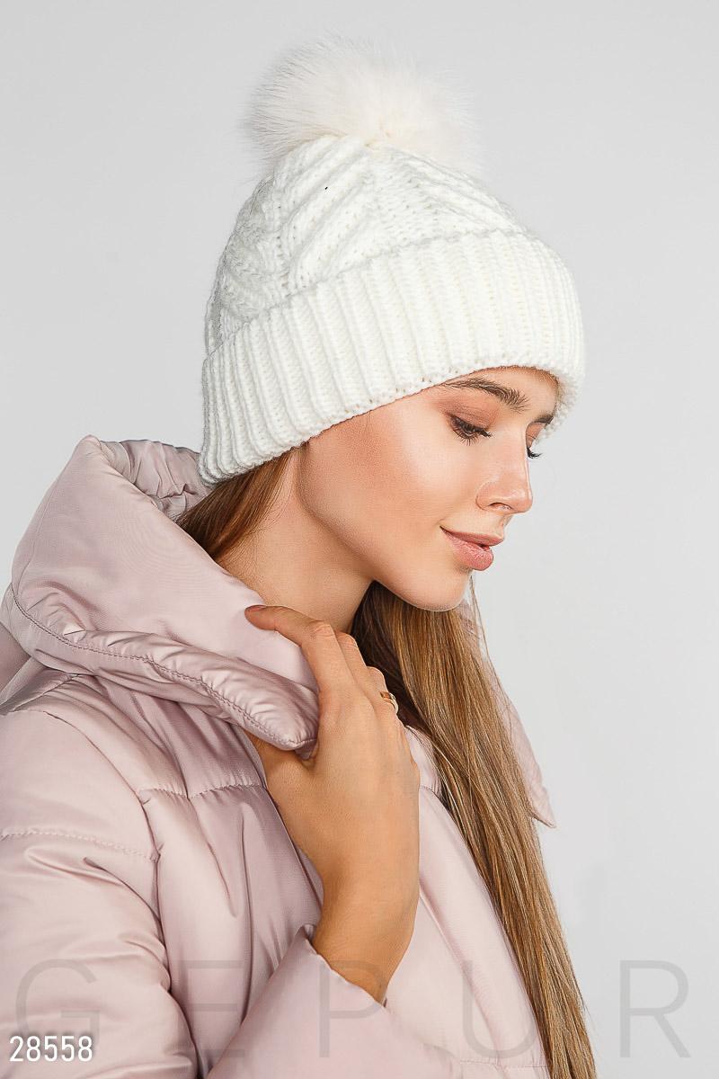 Мягкая зимняя шапка