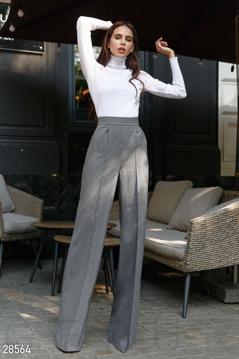 Шерстяные брюки-палаццо 28564