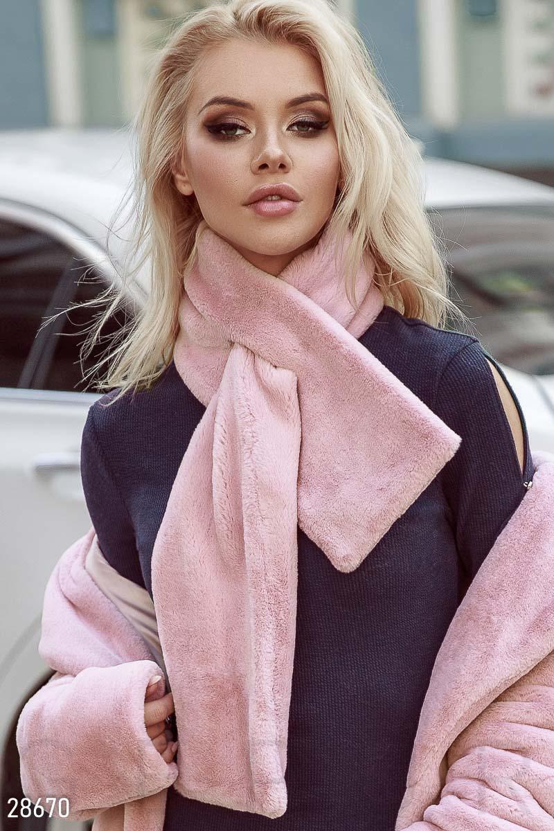 Оригинальный меховой шарф