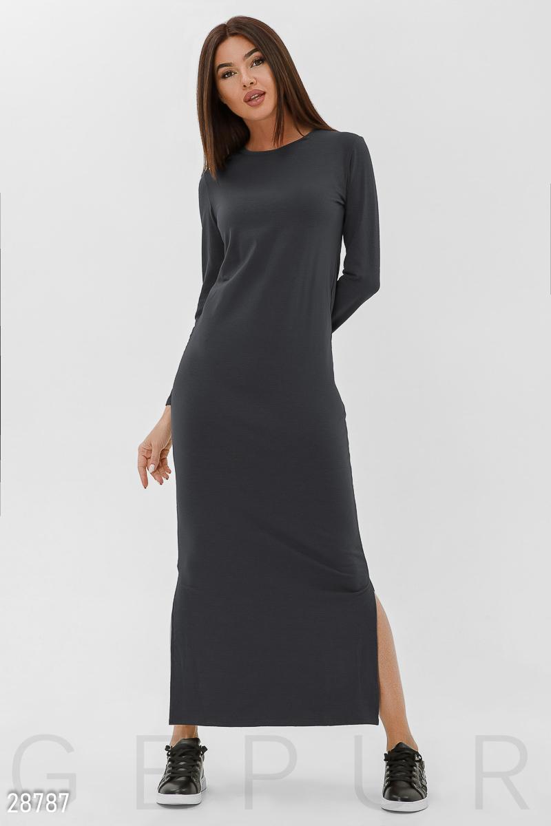 c6d9fcdbc0a Длинное трикотажное платье - купить оптом и в розницу