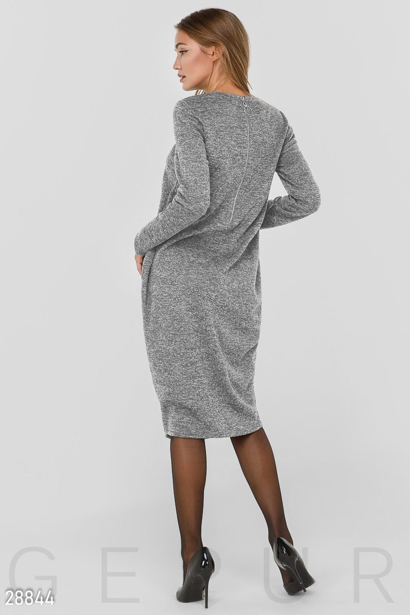 Warm oversize dress Grey 28844