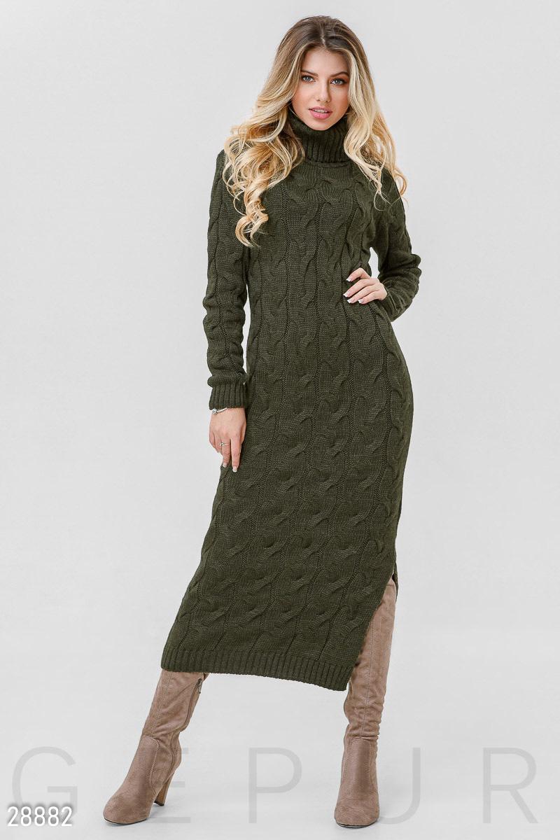 80de877a3ba Теплое вязаное платье - купить оптом и в розницу