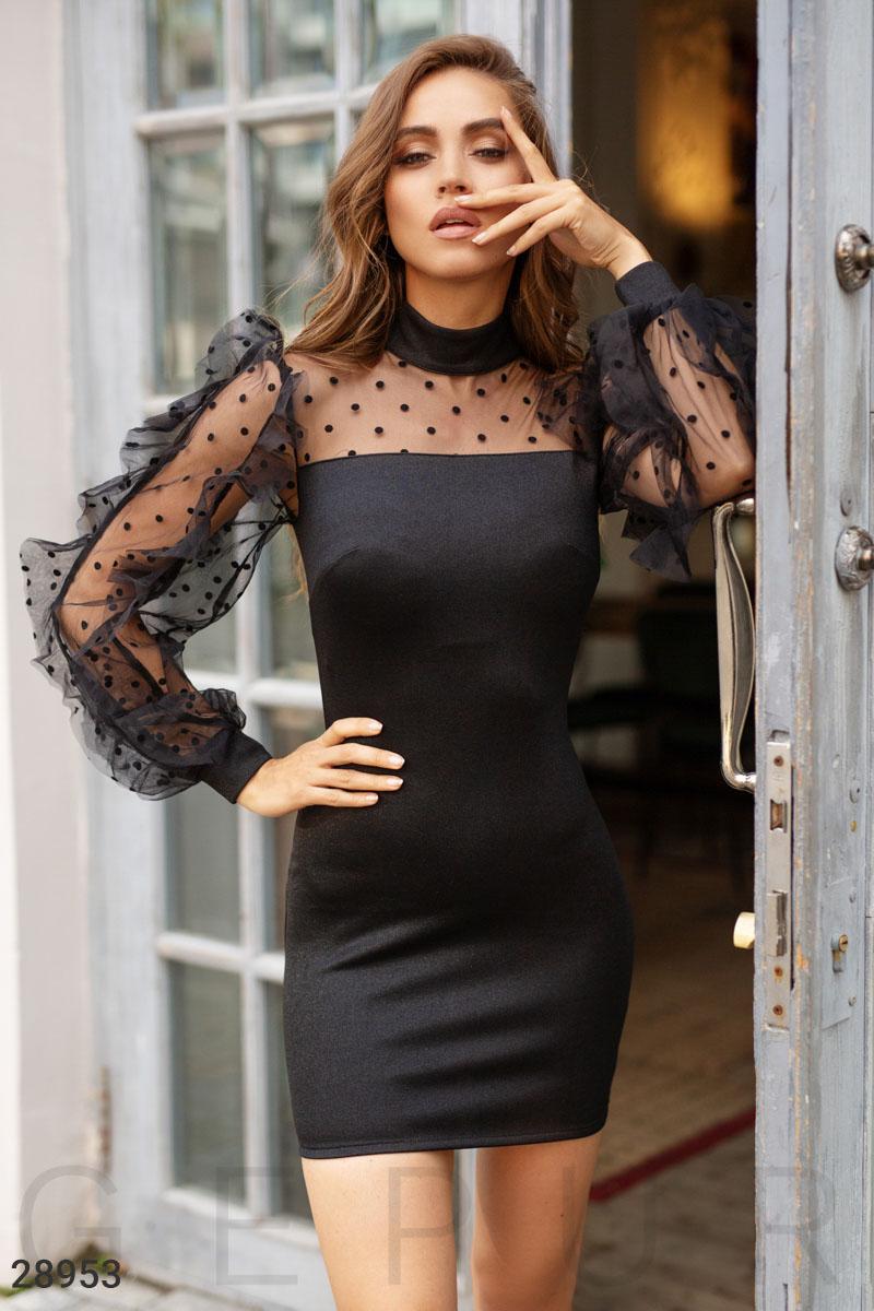 Платье с длинным рукавом 28953
