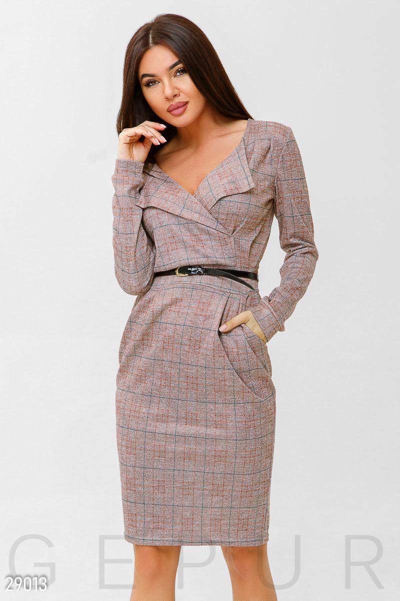 067ea168565 Деловое платье в клетку - купить оптом и в розницу