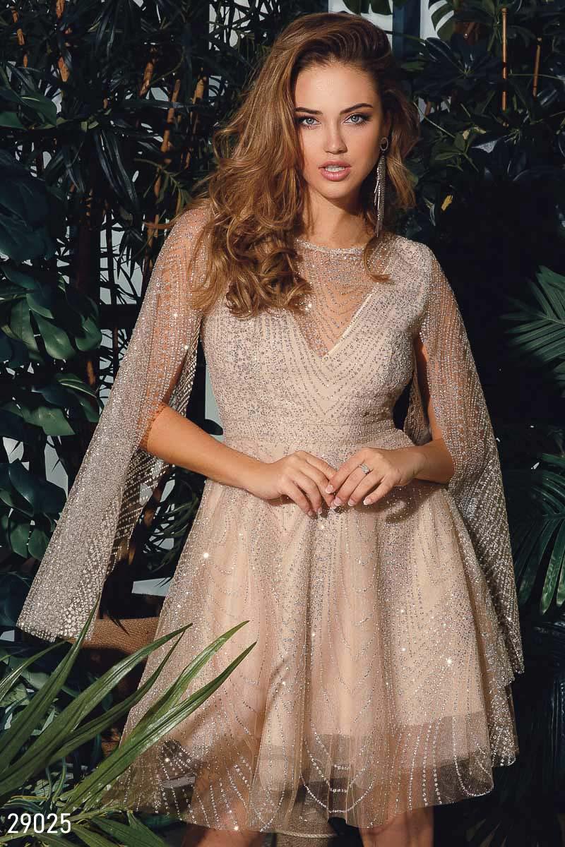Платье-мини с открытой спинкой 29025