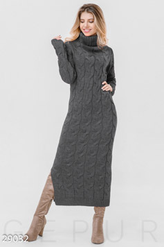Long sweater dress photo 1