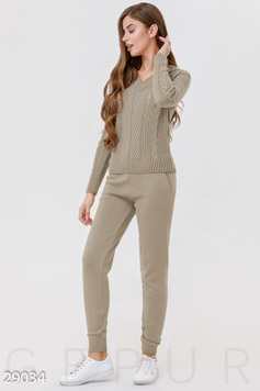 Winter knitted suit photo 1