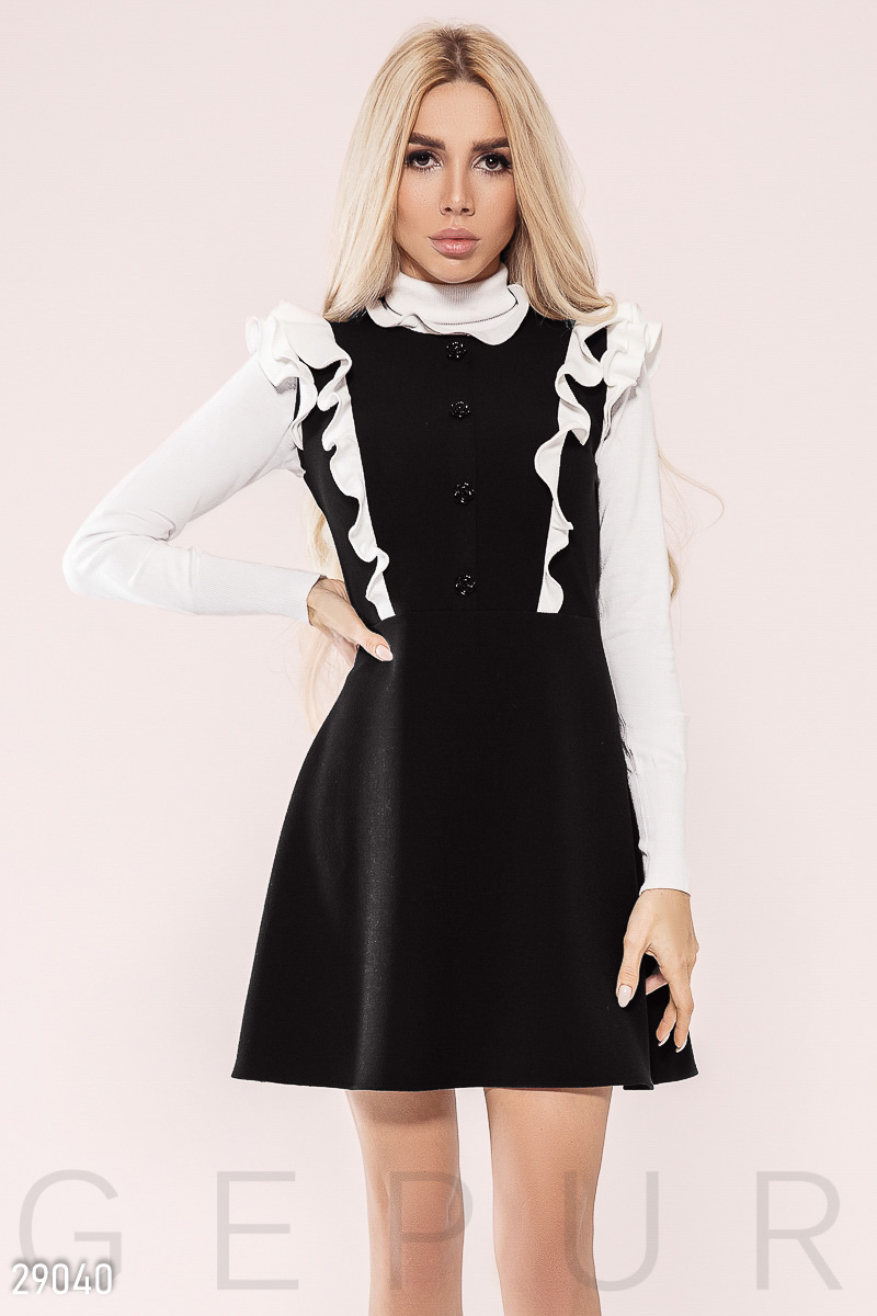 Dress with ruffles Black 29040