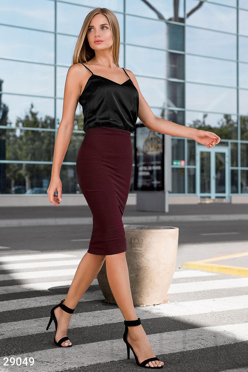 Облегающая юбка-миди 29049