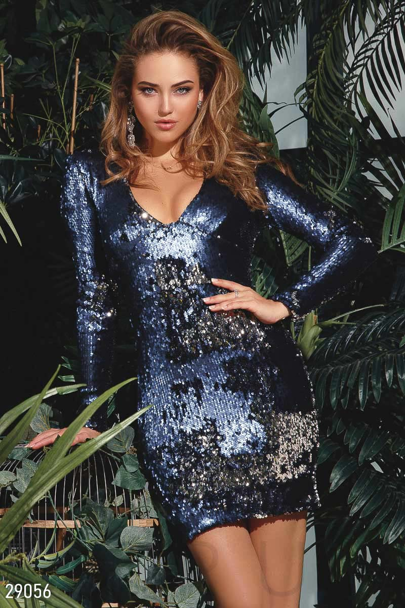 Платье-мини с пайетками 29056