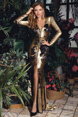 Spectacular dress with sequins photo 1