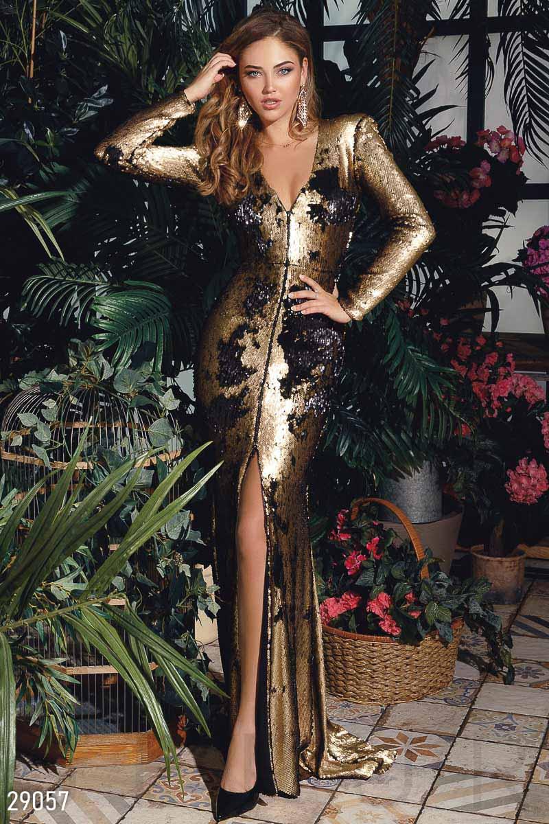 Эффектное платье с пайетками 29057