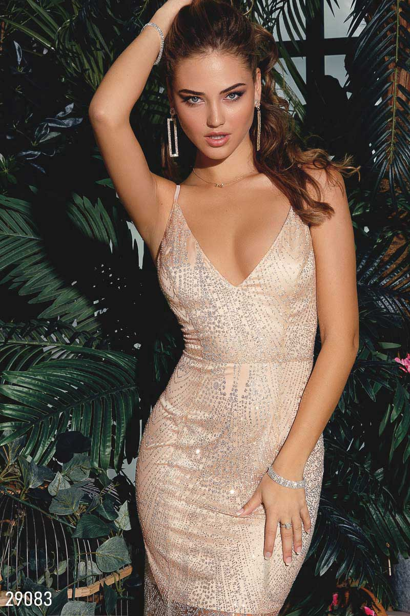 Graceful dress of the year Golden 29083
