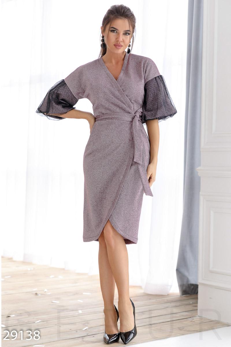 Эффектное платье-халат 29138