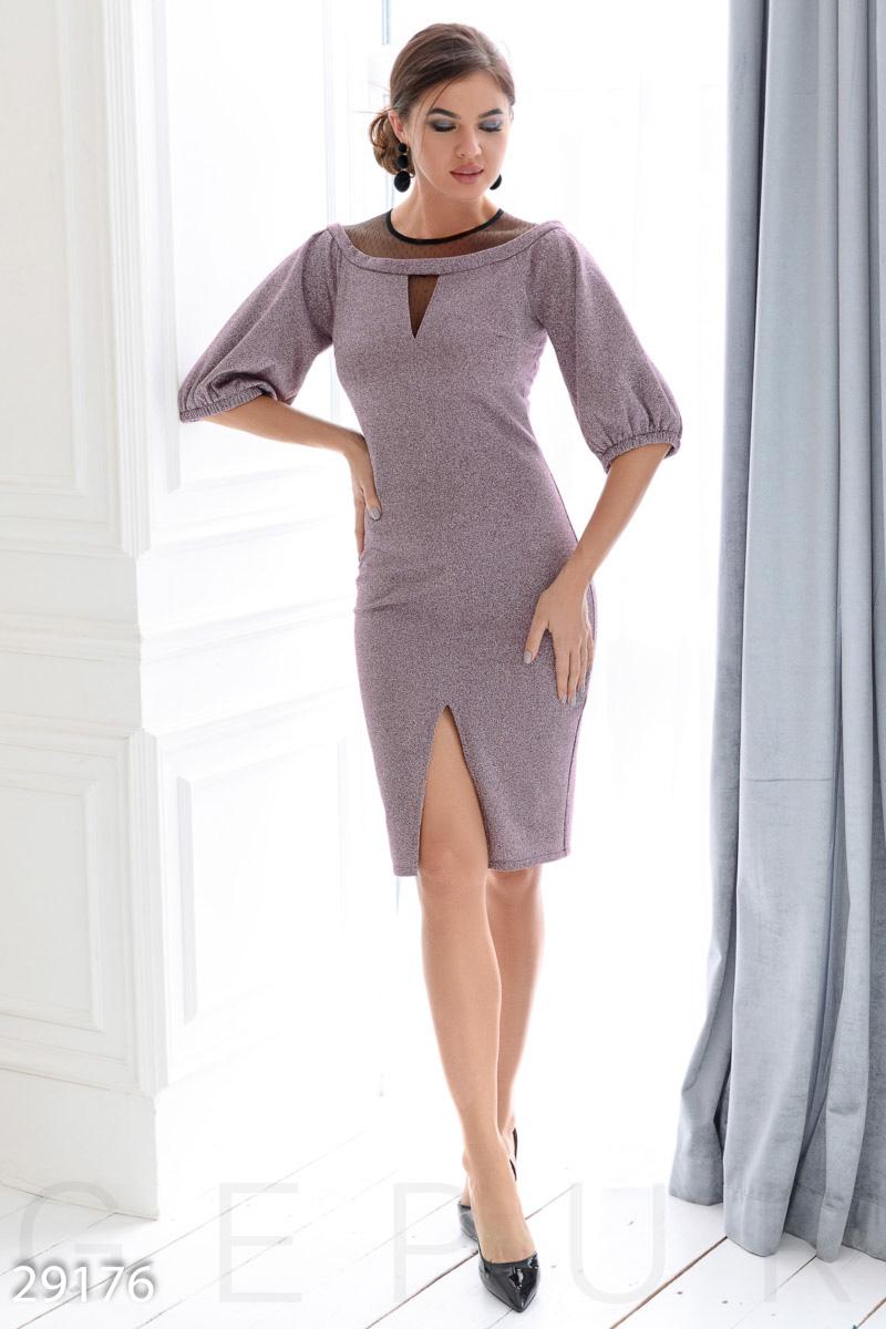 Платье-миди с люрексом 29176