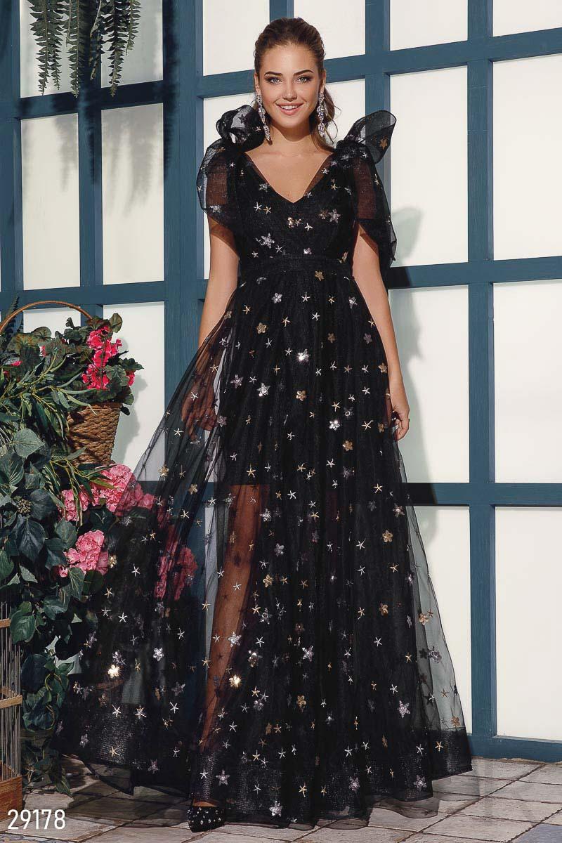 Платье с эффектным декором 29178