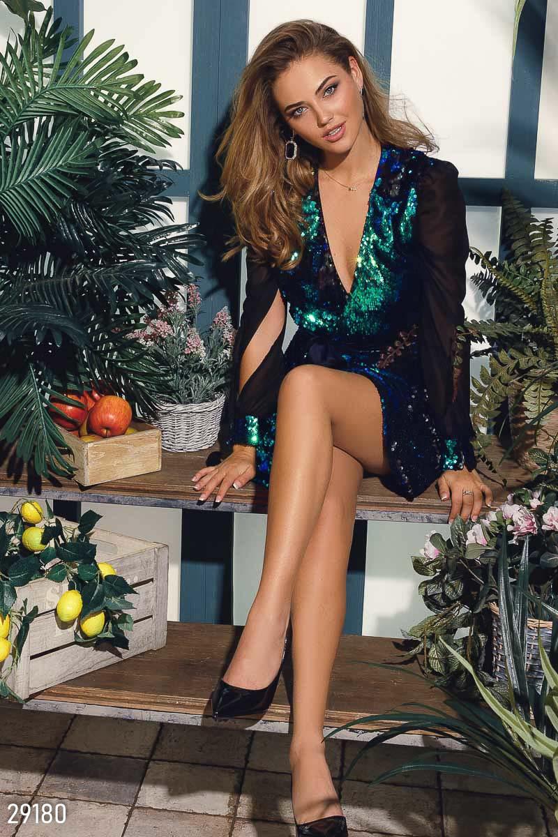 Вечернее платье на запaх 29180