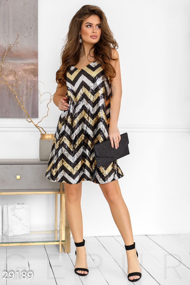 Вечернее платье-сарафан 29189