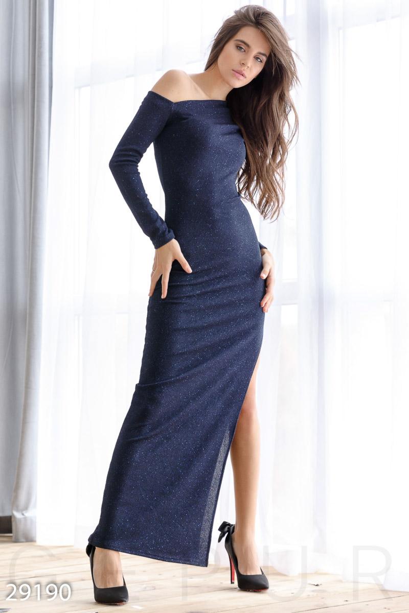 Асимметричное платье-макси 29190