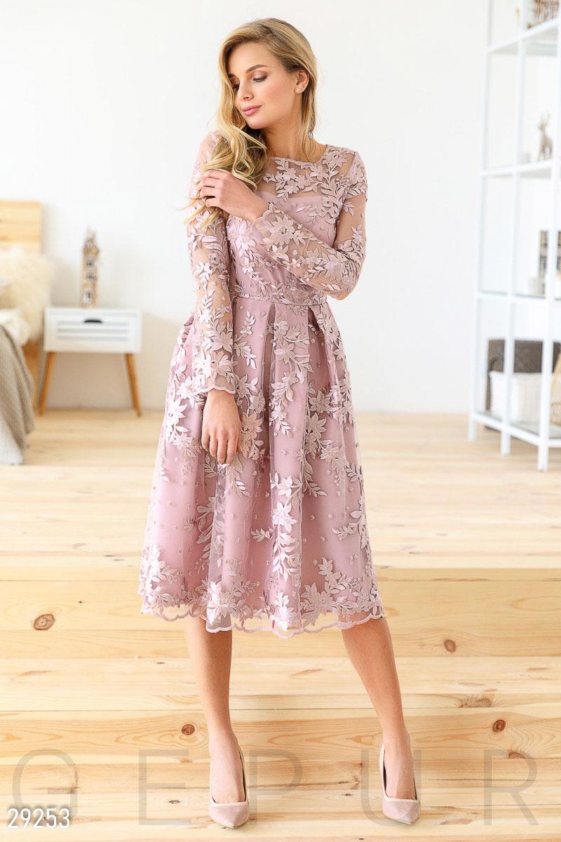 8344fa25edd Кружевное платье-миди - купить оптом и в розницу