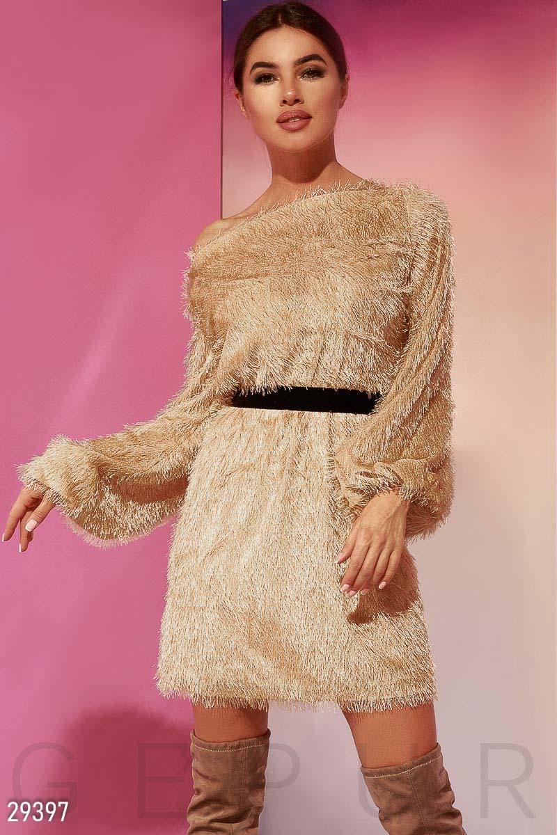 Мягкое платье-мини 29397