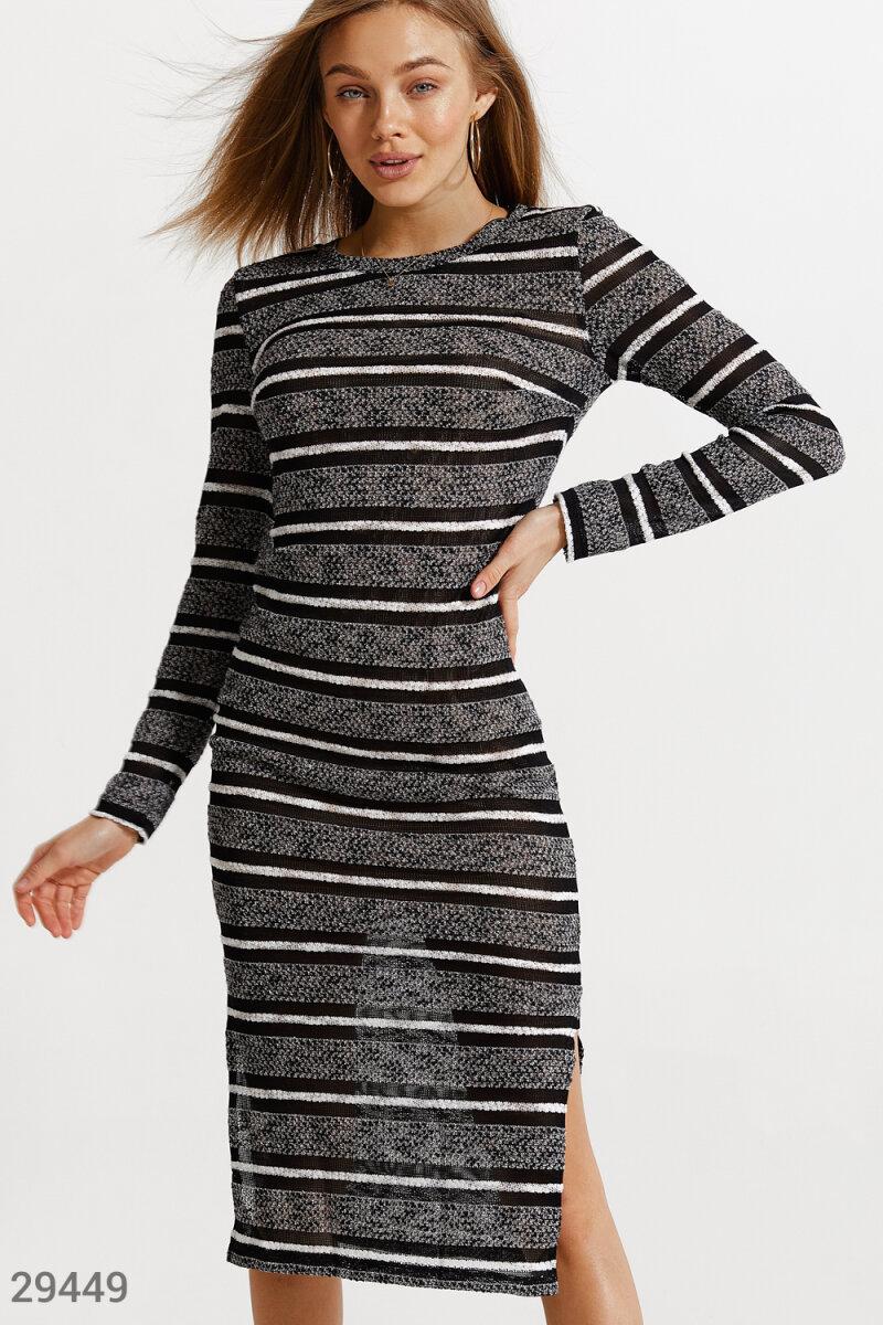 Удлиненное платье с разрезами 29449