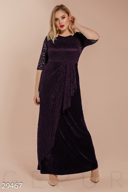 Velour dress photo 1