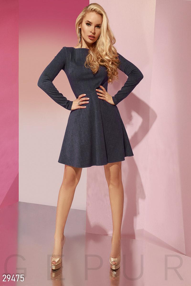 Джинсовое платье-клеш 29475