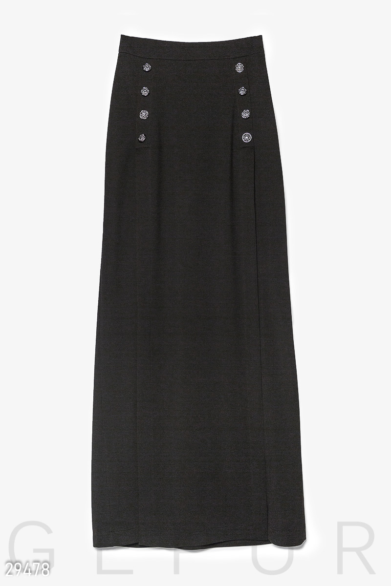 Skirt Maxi with slits Black 29478