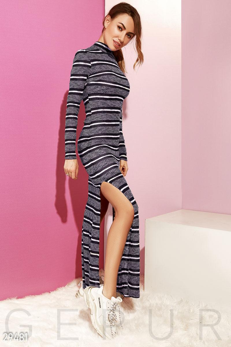 Удлиненное платье с разрезами 29481