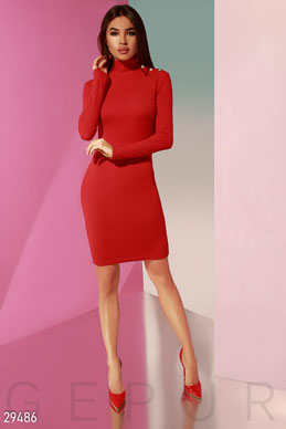 Trendy knitted dress photo 1