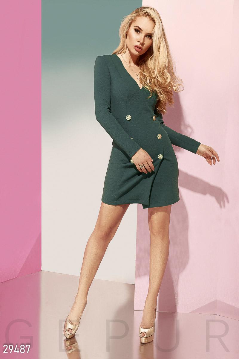 Двубортное платье-пиджак 29487