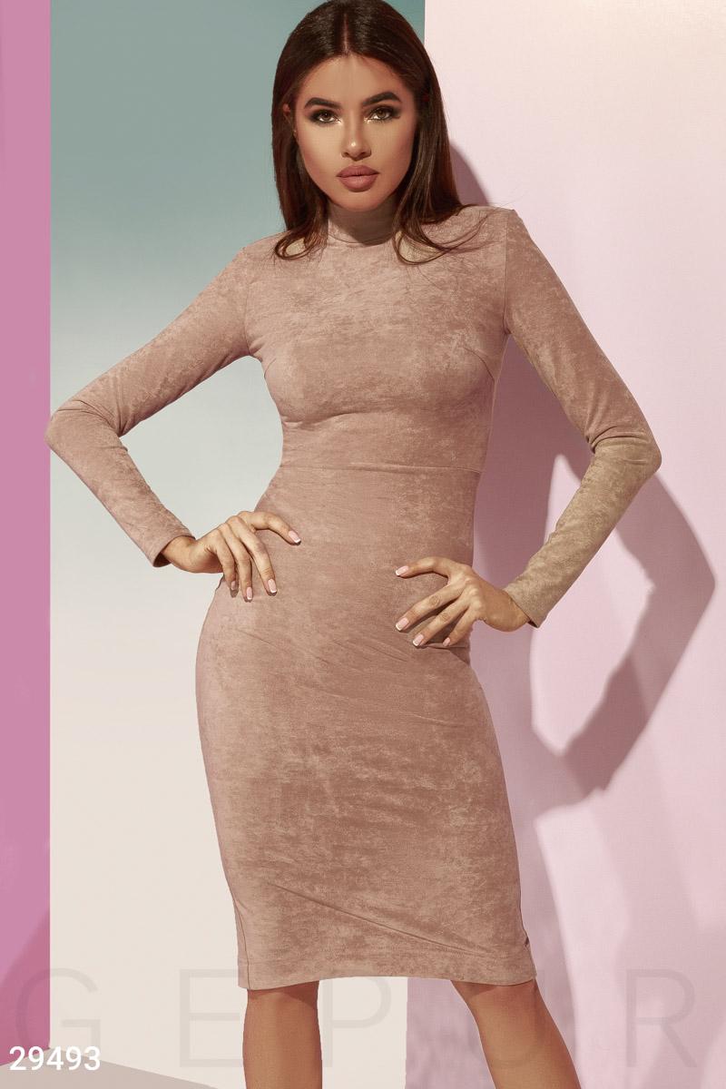 Базовое замшевое платье 29493