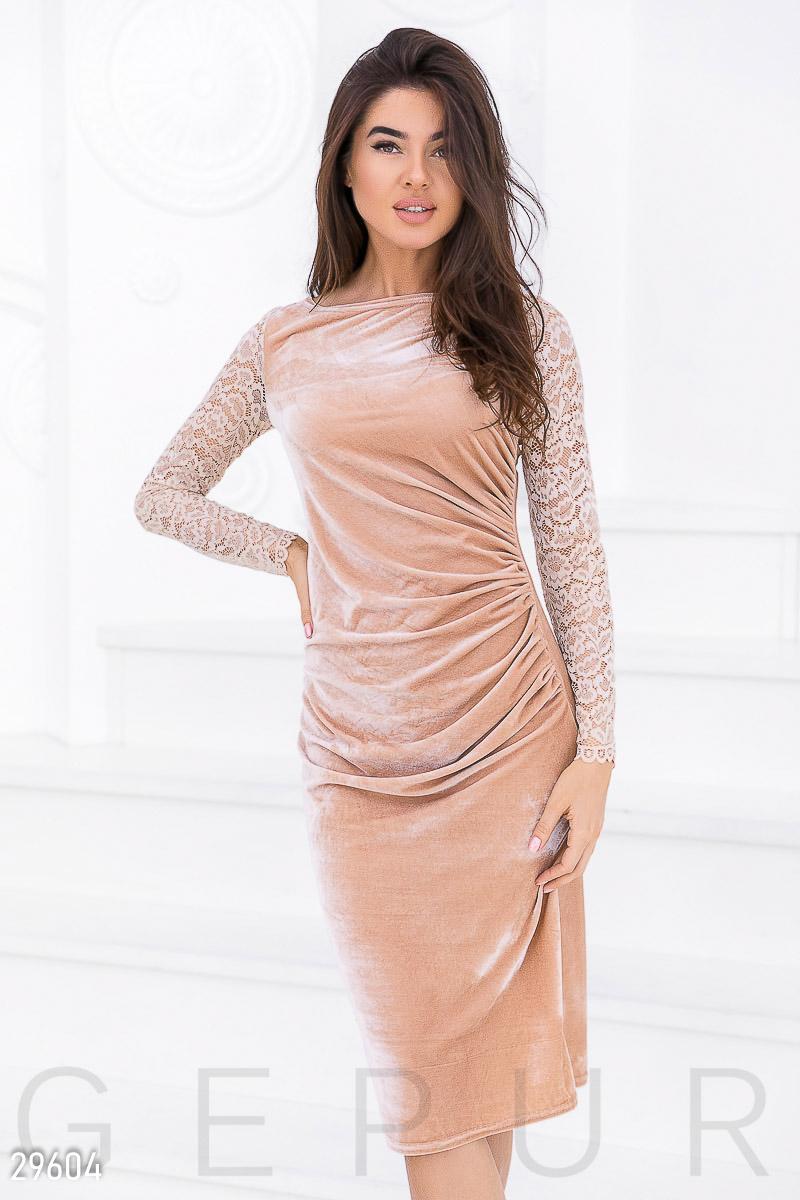 7002e3364bcdd26 Вечернее бархатное платье - купить оптом и в розницу | GEPUR