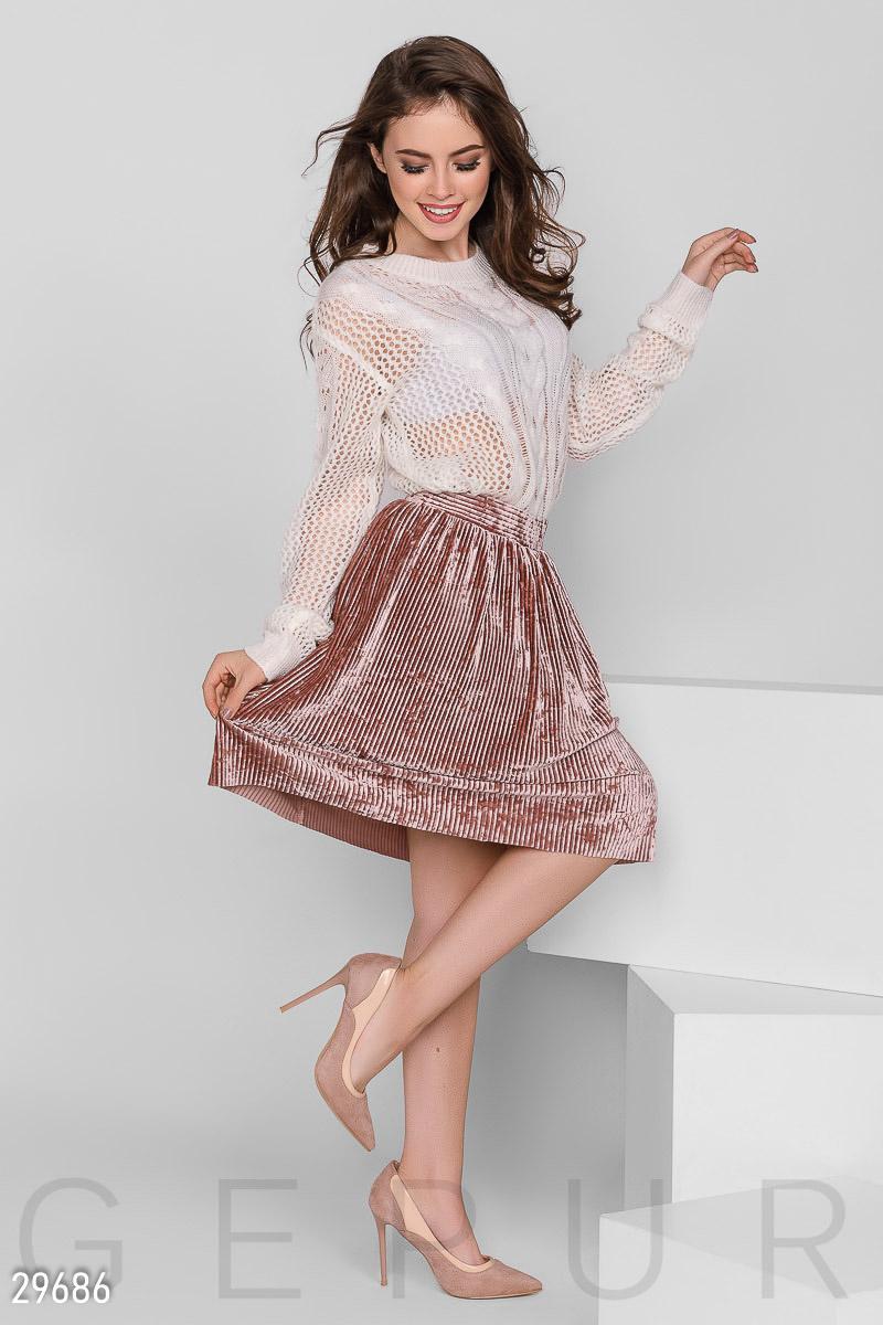 Бархатная юбка-мини