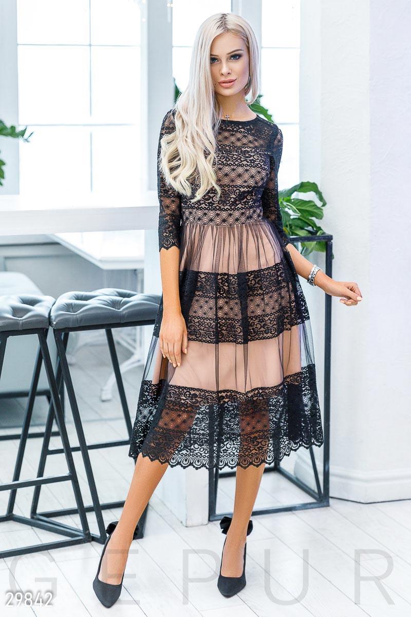 631b9f7519b62b Мереживне плаття-міді - купити оптом і уроздріб   GEPUR