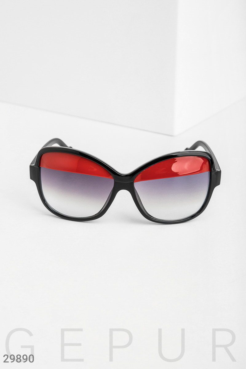 Glasses with bright inserts Black 29890