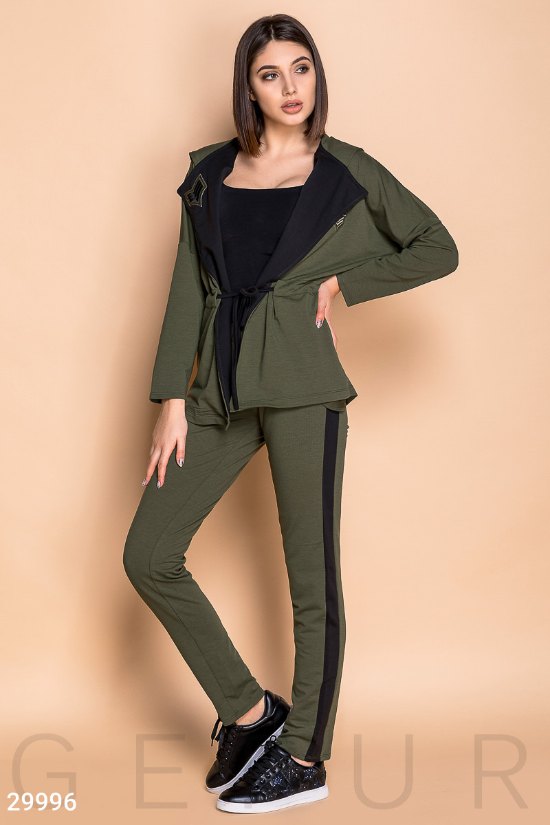 Knit casual suit Green 29996