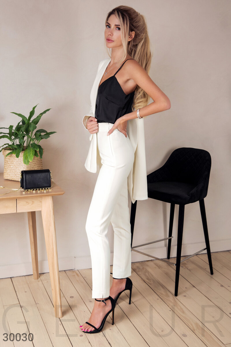The high-waisted pants White 30030