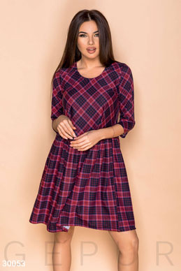 Free plaid dress photo 1