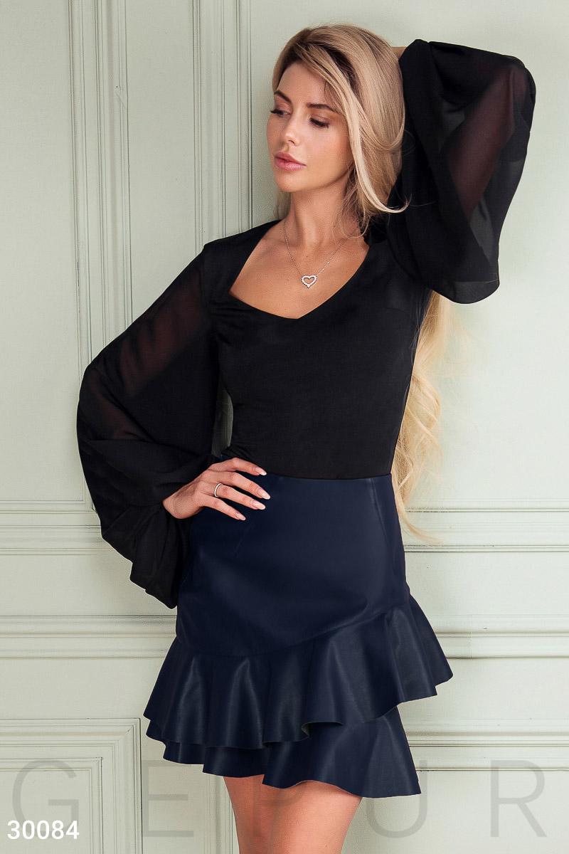 5be233c15f146 Кожаная юбка с оборками - купить в Украине и России | GEPUR